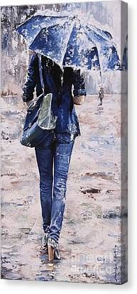 Shopping Canvas Print - Rainy Day #22 by Emerico Imre Toth