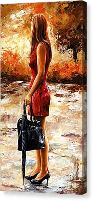 Rainy Day - After The Rain Canvas Print by Emerico Imre Toth