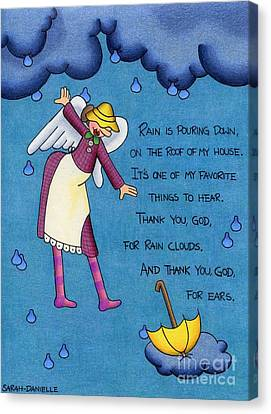 Wings Canvas Print - Rainy Day Angel by Sarah Batalka