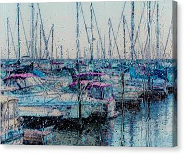 Rainy Day At The Lakefront Canvas Print by Jack Zulli