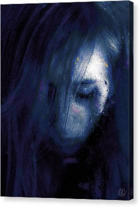 Rainy Day Blues Canvas Print