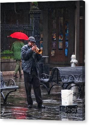 Rainy Day Blues New Orleans Canvas Print
