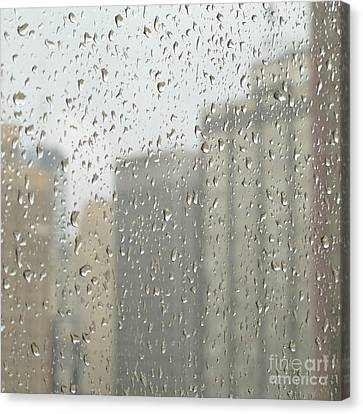 Rainy Day City Canvas Print by Ann Horn
