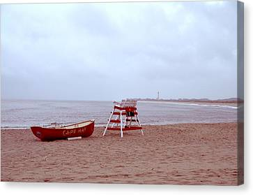 Rainy Day In Cape May Canvas Print by Bill Cannon