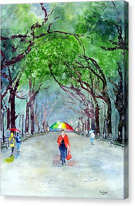 Rainy Day In Central Park Canvas Print