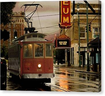 Rainy Day In Memphis Canvas Print