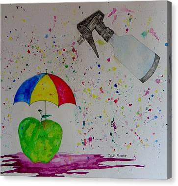 Rainy Day Canvas Print by Isaac Alcantar