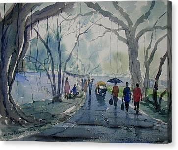 Rainy Day Canvas Print by Jiaur Rahman