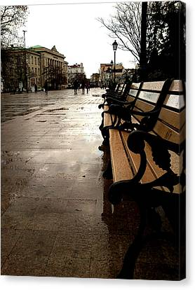 Canvas Print featuring the photograph Rainy Day by Lucy D