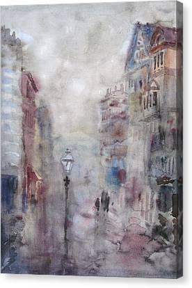 Rainy Day Canvas Print by Murat Kaboulov