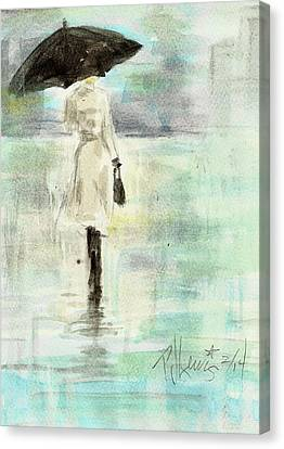 Rainy Monday Canvas Print by P J Lewis