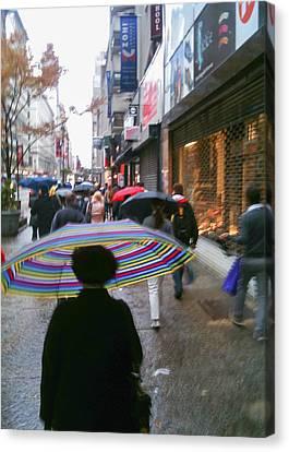 Rainy Morning 34th Street Canvas Print