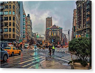 X-ing Broadway Canvas Print