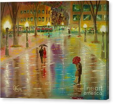 Rainy Reflections Canvas Print by Chris Fraser