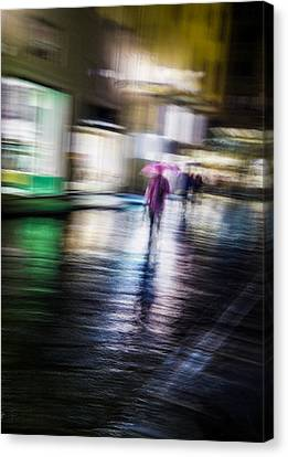 Canvas Print featuring the photograph Rainy Streets by Alex Lapidus