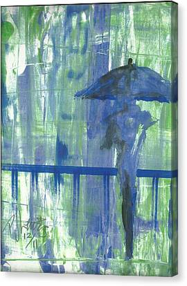 Rainy Thursday Canvas Print by P J Lewis
