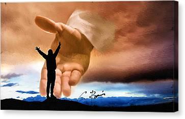 Raise Me Up Jesus Canvas Print