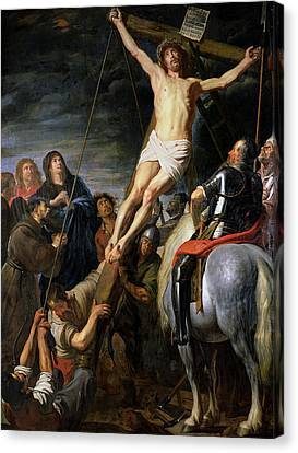 Raising The Cross Canvas Print by Gaspar de Crayer