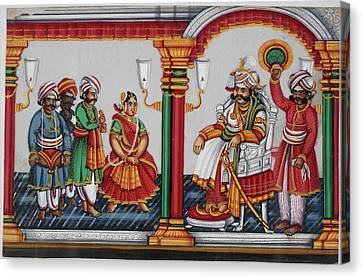 Raja Sarabhoji Of Tanjore Canvas Print