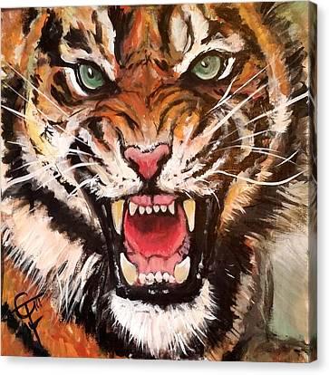 Prowler Canvas Print - Raja by Tom Carlton