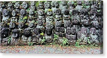 Rakan Sculptures At Otagi Nenbutsu-ji Canvas Print