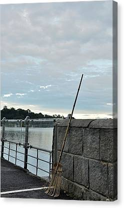 Canvas Print featuring the photograph Rake Rests Itself After A Hard Days Work by Imran Ahmed