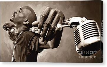 Rakim Artwork Canvas Print by Sheraz A