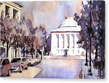 Raleigh Capital- Plein Air Canvas Print by Ryan Fox