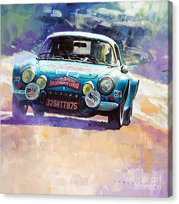 Rally Monte Carlo 1972 Alpine-renault A110 1600  Canvas Print