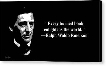 Censorship Canvas Print - Ralph Waldo Emerson On Censorship  by Artist Singh