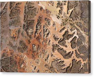 Jordan Canvas Print - Ram Desert Transjordanian Plateau Jordan by Anonymous