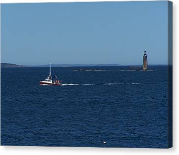 Ram Island Ledge Light Canvas Print by Gene Cyr