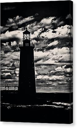 Ram Island Ledge Light Canvas Print by Karol Livote