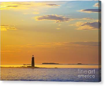 Ram Island Lighthouse Casco Bay Maine Canvas Print by Diane Diederich