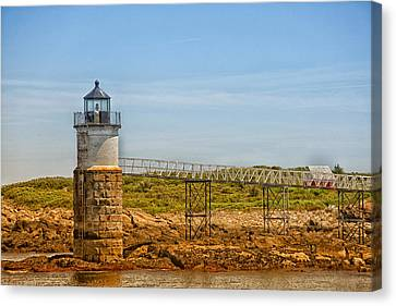 Ram Island Lighthouse Canvas Print by Karol Livote