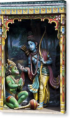 Rama And Hanuman  Canvas Print by Tim Gainey