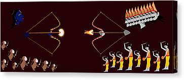 Rama Ravana War Canvas Print