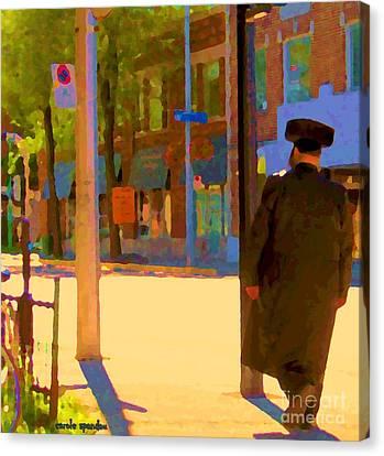 Ramacieri Soligo Building Supplies Rue Van Horne Outremont Montreal Street Scene Art Carole Spandau Canvas Print