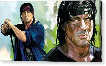 Rambo Artwork Canvas Print by Sheraz A
