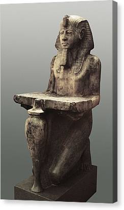Ramesses II With The Table Of Abydoss Canvas Print by Everett