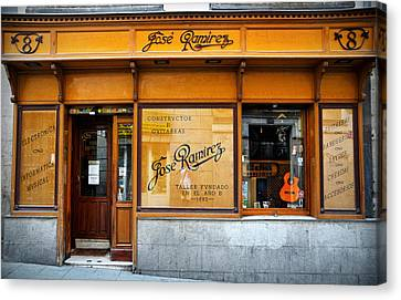 Lute Canvas Print - Ramirez Guitars Workshop by RicardMN Photography