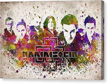 Rammstein In Color Canvas Print by Aged Pixel