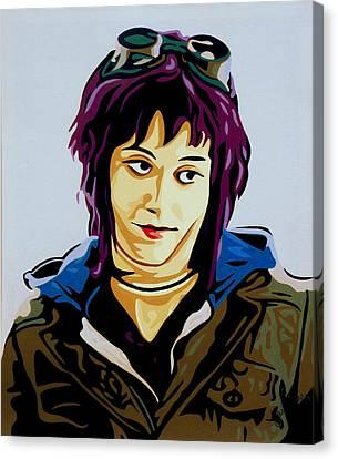 Scott Pilgrim Canvas Print - Ramona Flowers by Ian  King