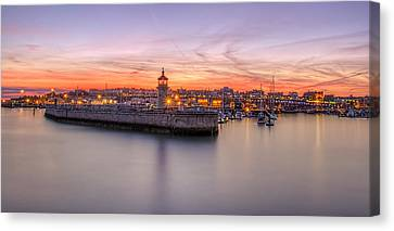 Ramsgate Harbour Summer Sunset  Canvas Print