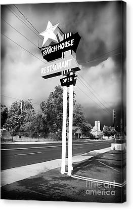 Old School Houses Canvas Print - Ranch House by John Rizzuto