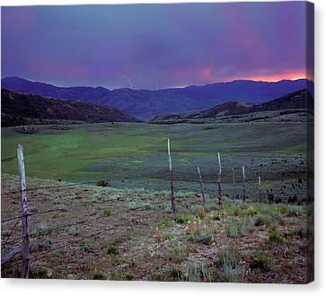 Ranch Land Canvas Print by Leland D Howard