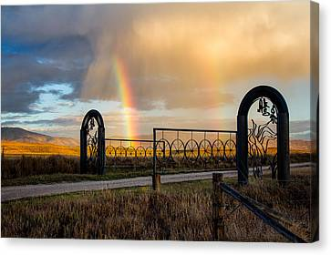 Ranch Rainbow Canvas Print by John McArthur