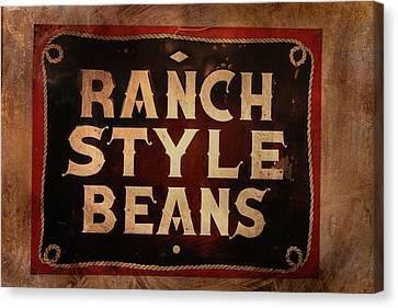 Ranch Style Beans Canvas Print by Toni Hopper