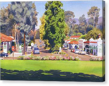 Eucalyptus Canvas Print - Rancho Santa Fe California by Mary Helmreich