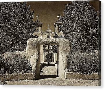 Francis Canvas Print - Ranchos Gate On Rice Paper by Charles Muhle